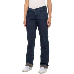 PrAna boyfriend jeans flannel lined size 8 NWT